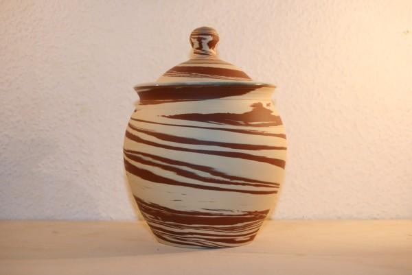 Dose, zweifarbig marmoriert