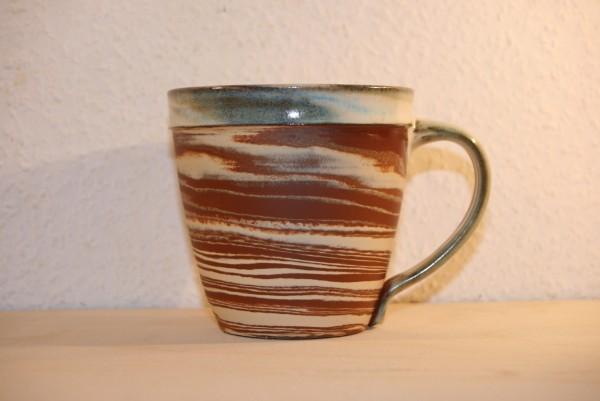 Marmorierte Tasse, zweifarbig